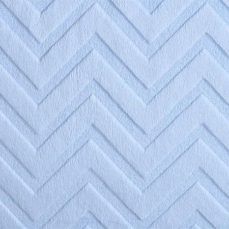 Shannon Fabrics - Chevron Cuddle - Baby Blue