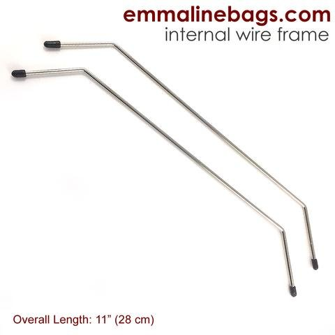 Emmaline - Internal Wire Frames - Bag Frame - Style D -2 pair