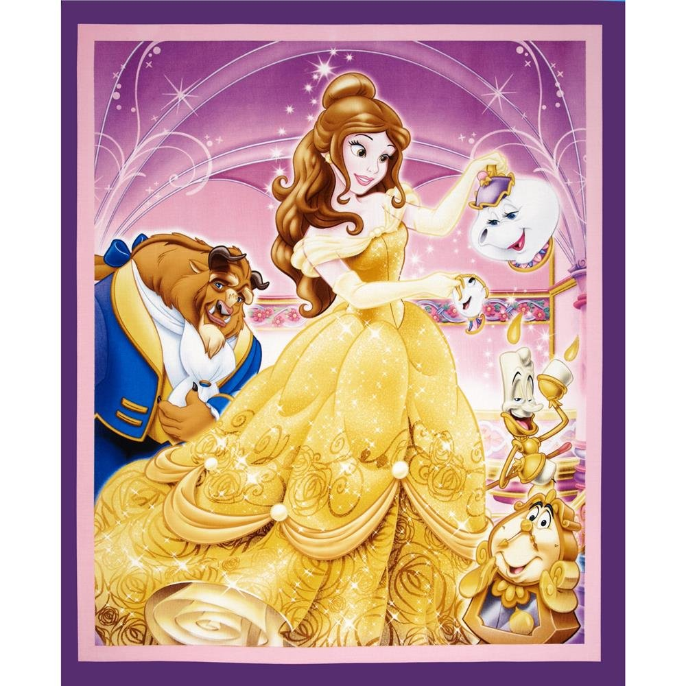 Springs Creative - Disney - Beauty & the Beast Panel - Purple
