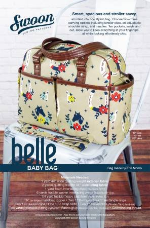 Swoon Sewing Patterns - Belle - Baby Bag