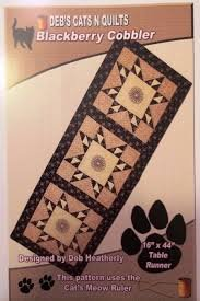 Deb's Cats n Quilts - Blackberry Cobbler - Runner