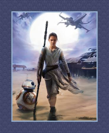 Camelot Fabrics - Star Wars - The Force Awakens Panel - Blue