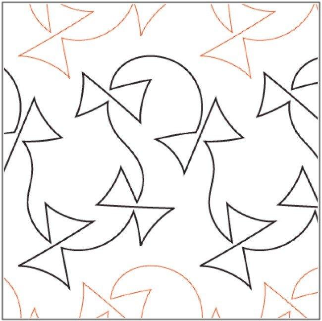 Urban Elementz- Pantograph - Meandering Clover (10.25 wide pattern)