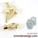 Emmaline - Bucket Purse Feet: 9/16 (14mm) - Gold 6ct