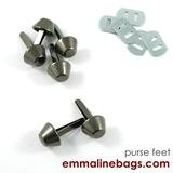 Emmaline - Bucket Purse Feet: 9/16 (14mm) - Gunmetal 6ct