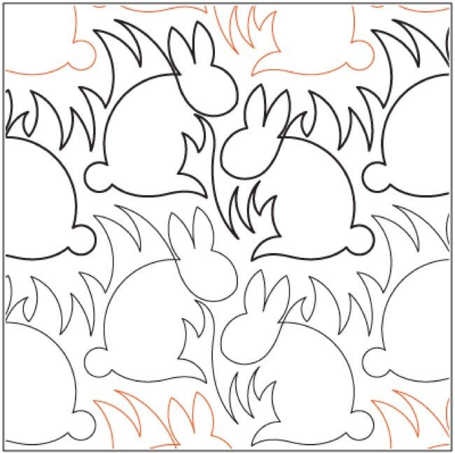 Urban Elementz- Pantograph - Bunnies (7.5 wide pattern)