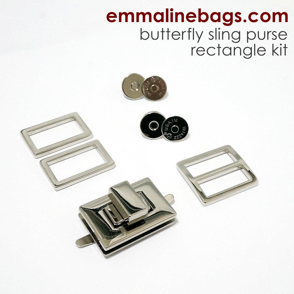 Emmaline - the Butterfly Sling Hardware Kit - Square Lock Nickel