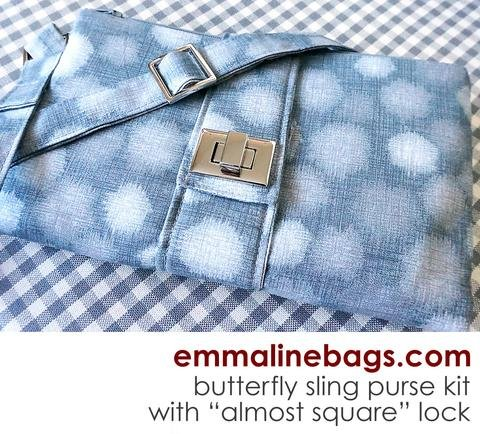Emmaline - the Butterfly Sling Hardware Kit - Oval Lock Gold