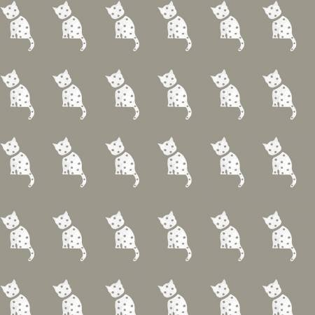 Old Made Cat Stamp Gray