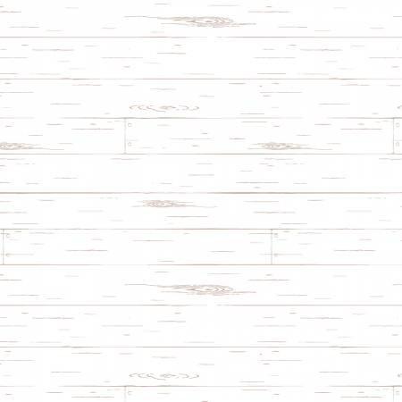 Penny Rose Fabrics - Nancy Zieman - Farmhouse Shiplap - White