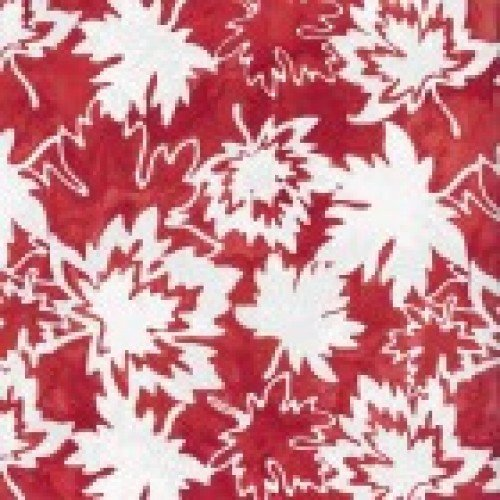 Canada by Shania Sunga - Canadian Maples - Minky - Red