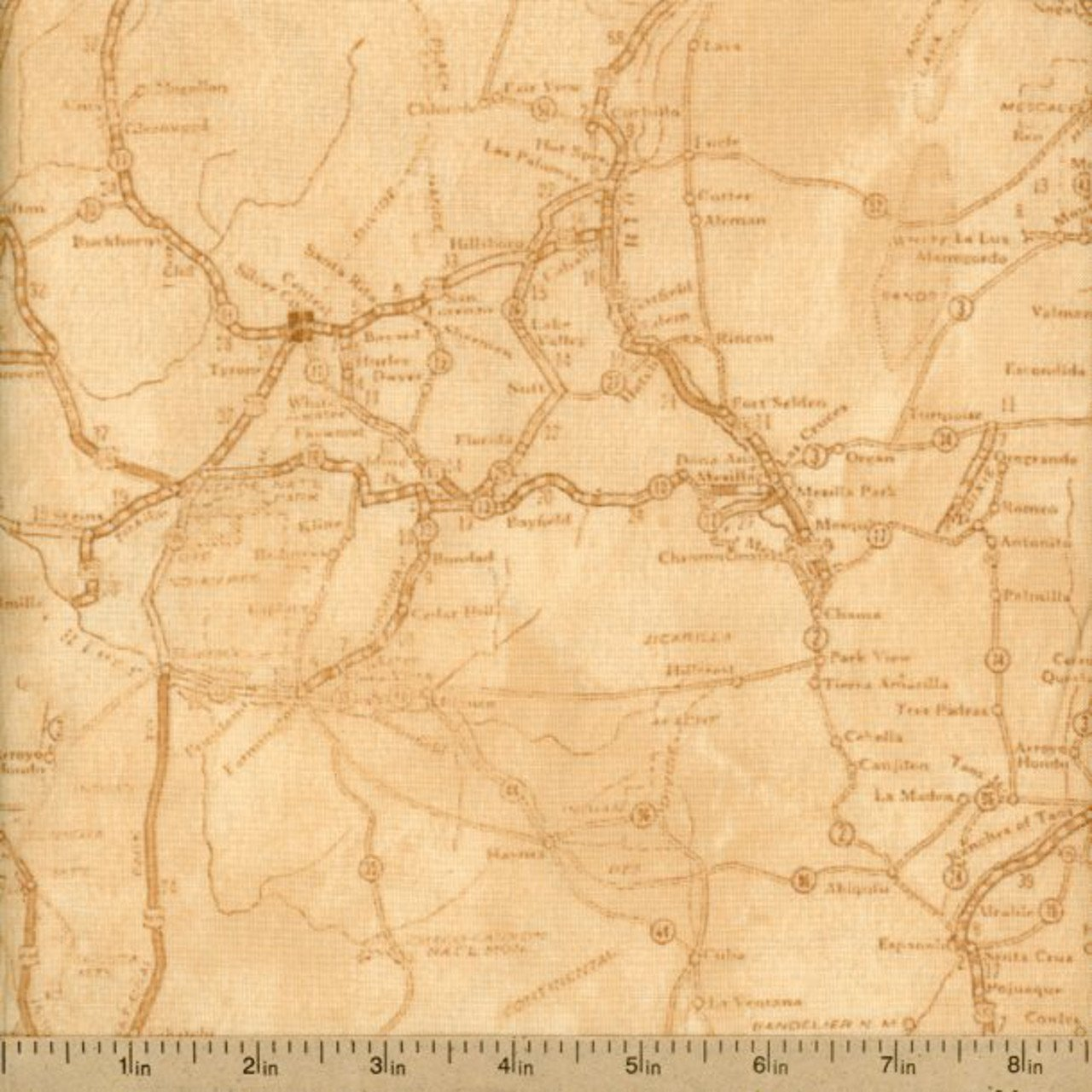 Quilting Treasures - Classic Indian - Map