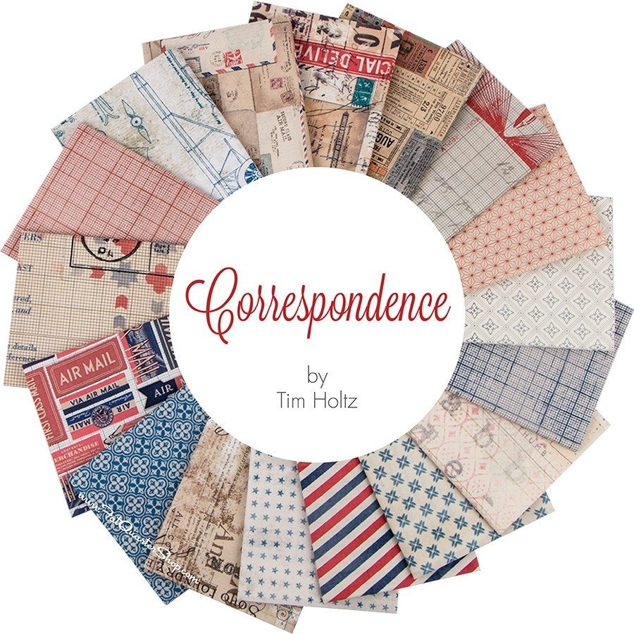 Tim Holtz - Correspondence - Fat Quarter Bundle - (17 Peices)
