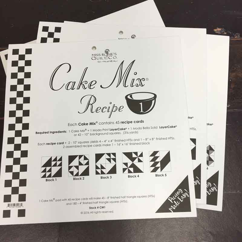 Moda - Miss Rosie's Quilt Company - Cake Mix Recipe Paper Peicing - (#3)
