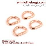 Emmaline - D-Ring: 1/2 (12mm) - Copper 4ct