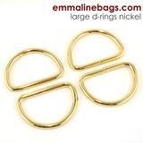 Emmaline - D-Ring: 1 1/2 (38mm) - Gold 4ct