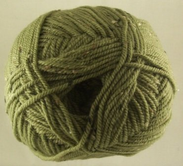 James C. Brett - Rustic Wool - Aran Tweed - Olive - 400g