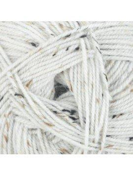 James C. Brett - Rustic Wool - Aran Tweed - White - 400g