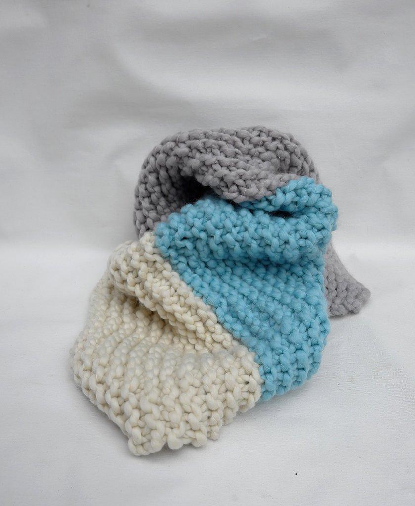 Loopy Mango - DIY Kit - Little One's Blanket - Lilac/Iceberg/Snow