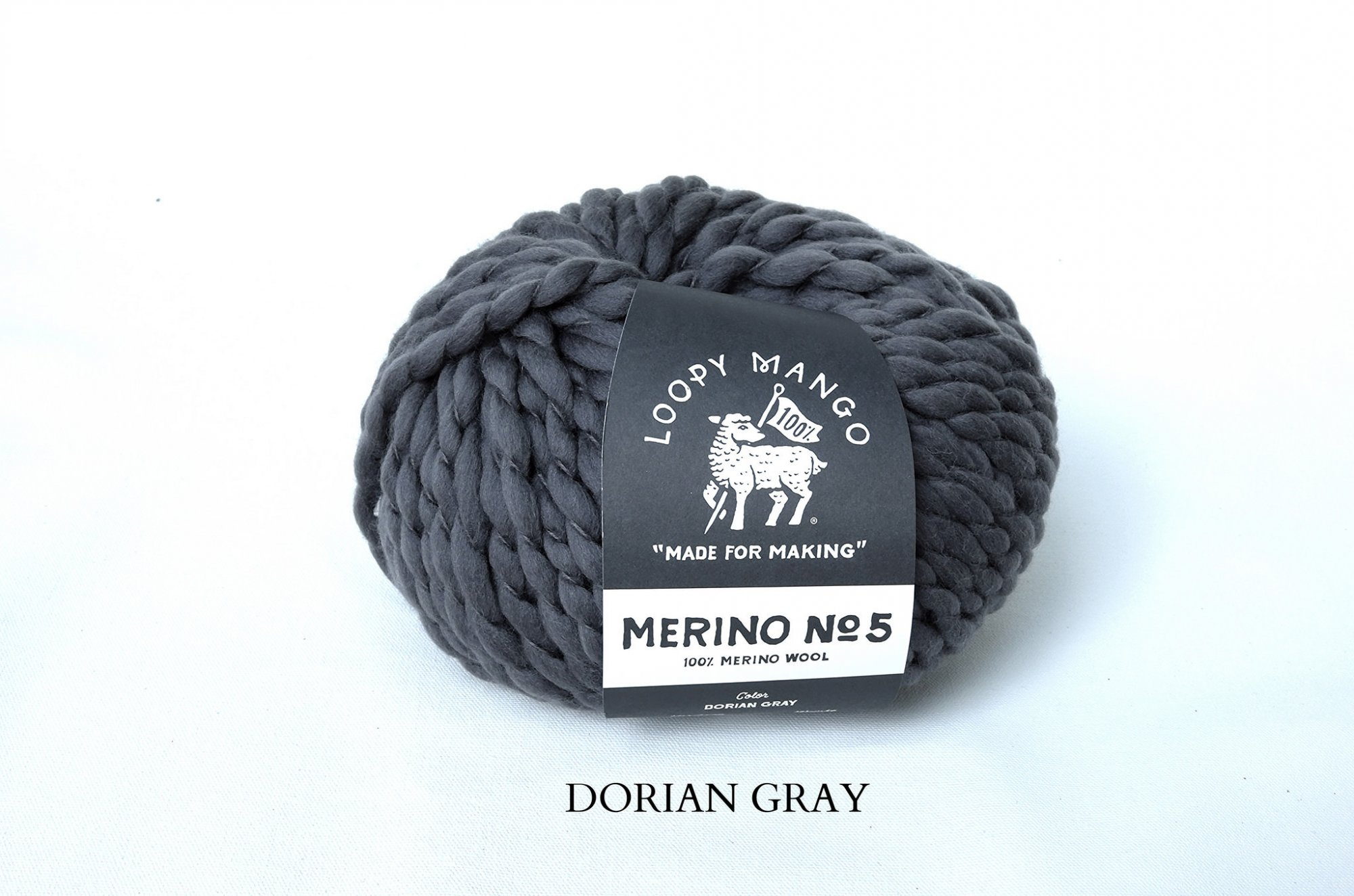 Loopy Mango - Merino No 5 Wool - Dorian Gray - 150g - 68m