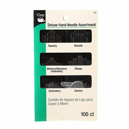 Dritz - Deluxe Hand Needle Assortment With Needle Threader