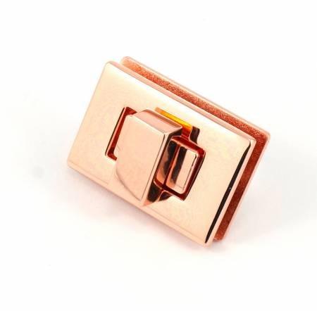 Emmaline - Rectangle Turn Lock Small - Copper Finish