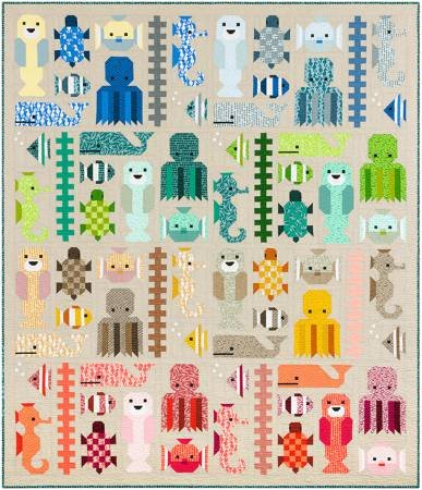 Elizabeth Hartman - Awesome Ocean - Sea Life Sampler Quilts