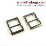 Emmaline - Strap Slider Wide Mouth: 1 (25mm) Gunmetal 2ct