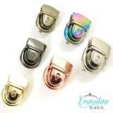 Emmaline - Press Lock - Antique Brass