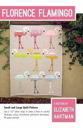 Elizabeth Hartman - Florence Flamingo - Small and Large Quilt Pattern