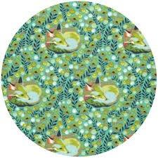 Free Spirit - Tula Pink - Chipper - Fox Nap - Mint