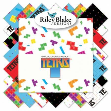 Riley Blake Design - Tetris - 10 Charm Pack - 42 Peices