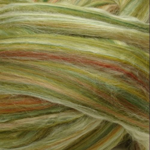 Ashland Bay - Multi-Coloured Merino/Tussah - Green