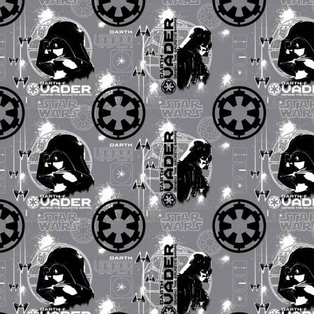 Camelot Fabrics - Star Wars - Star Wars Darth Vader - Grey