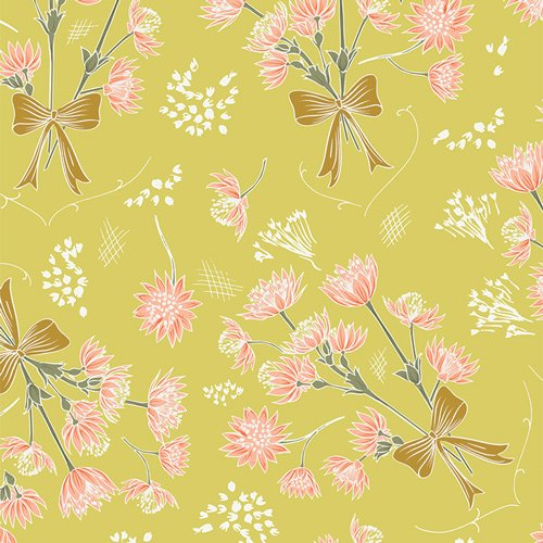 Art Gallery Fabrics - Gathered - Collected Stems Bright - Yellow