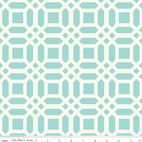 Riley Blake  - Vivid Lattice - Aqua Canvas