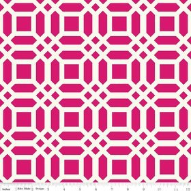 Riley Blake  - Vivid Lattice - Fuschia Canvas