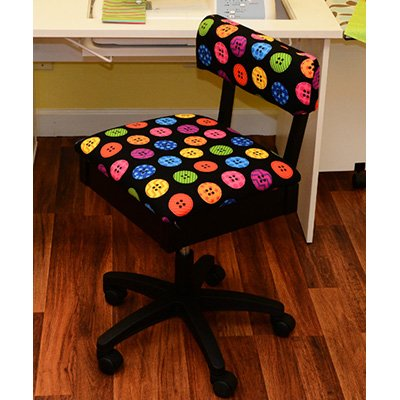 Kangaroo Kabinets - Hydraulic Sewing Chair - Button Fabric