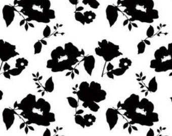 Camelot Fabrics  - Simply Fashionista - Flower Silhouette - White