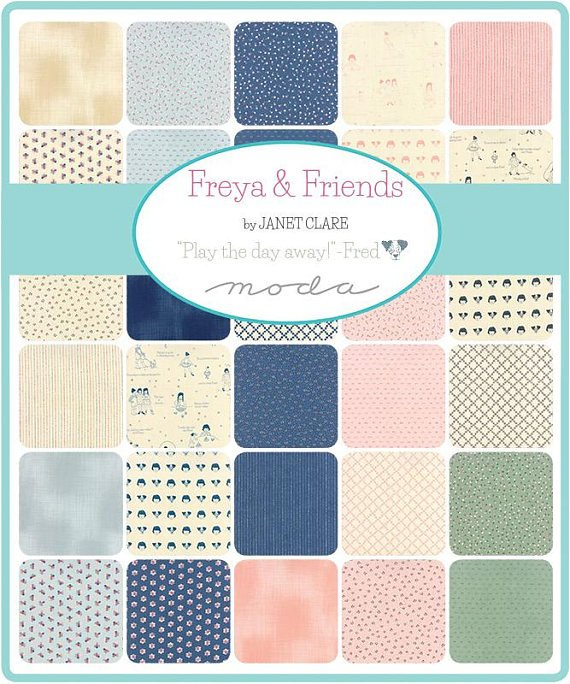 Moda - Janet Clare - Freya and Friends  - 10  Charm Pack - 42 Count