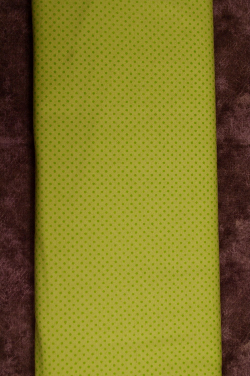 Flatfold Flannel - Green Polka Dots