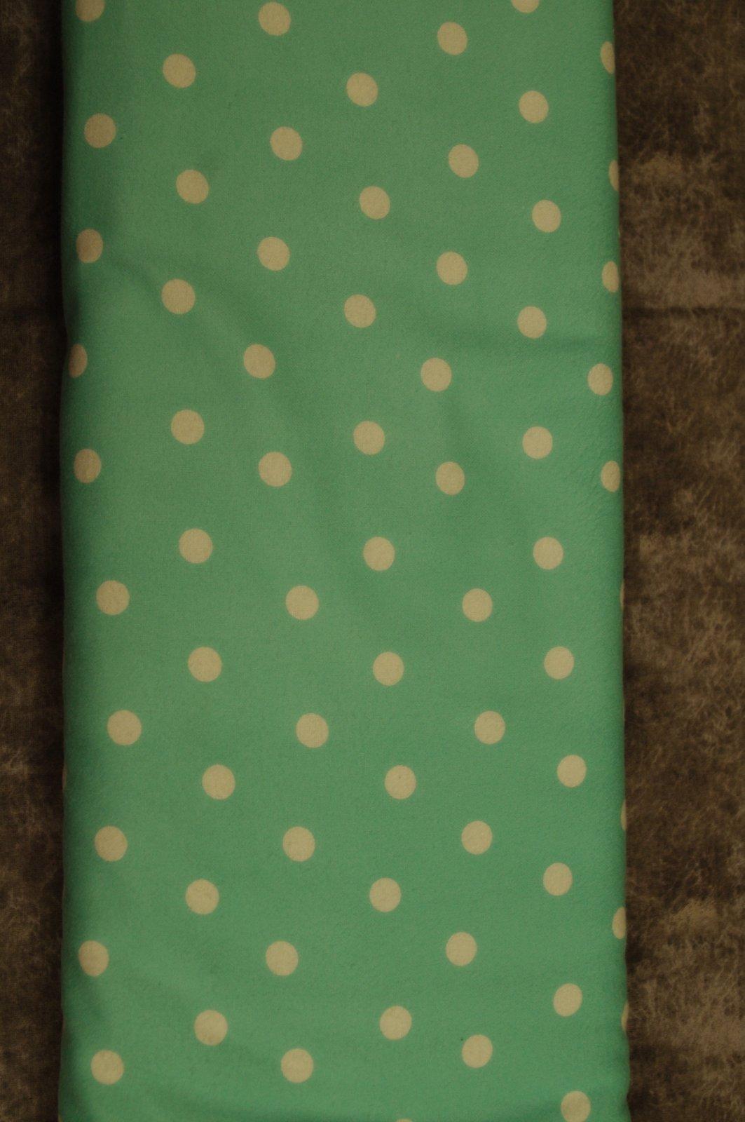 Flatfold Flannel - Large Teal Polka Dots
