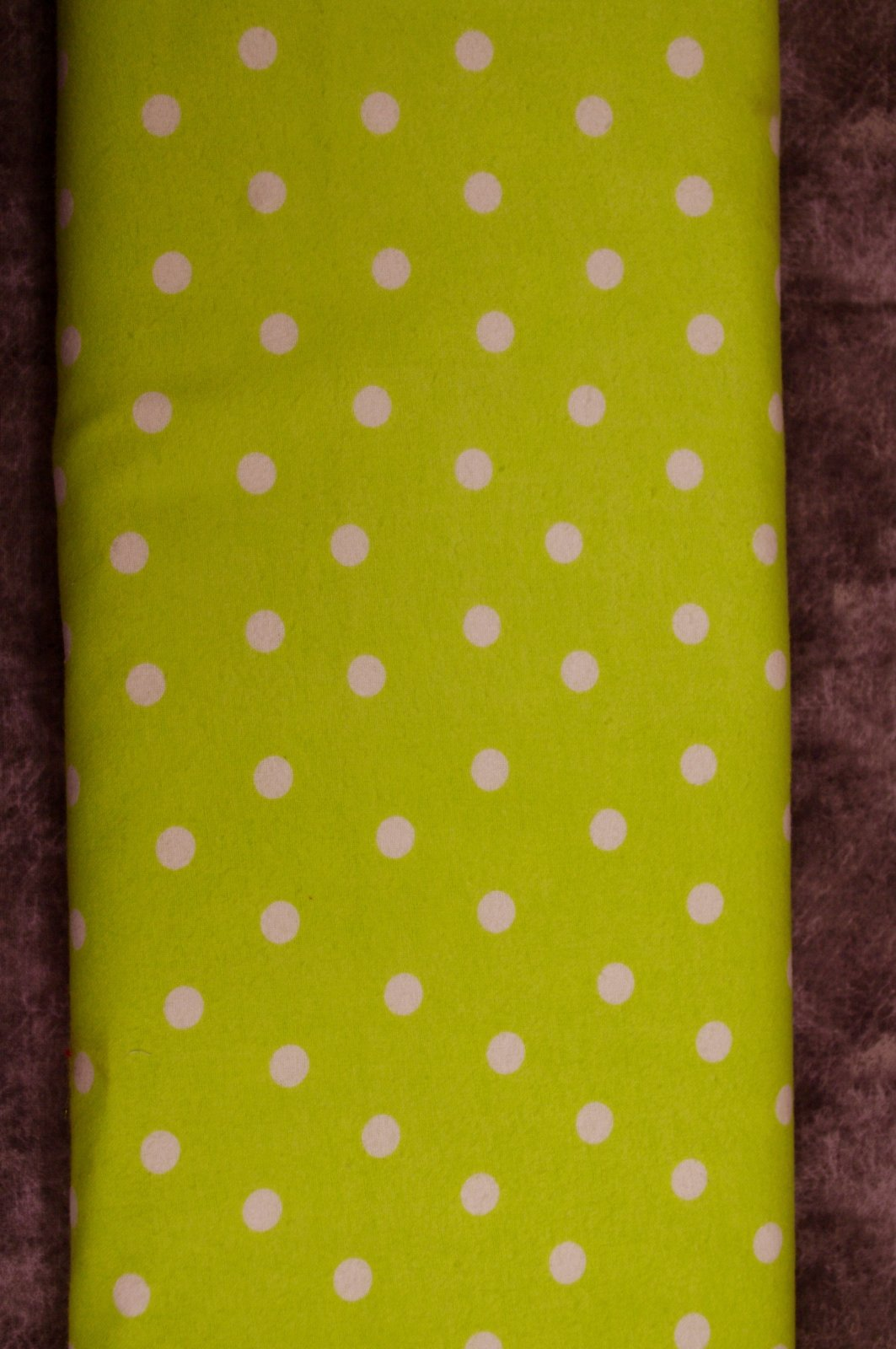 Flatfold Flannel - Lime Polka Dots