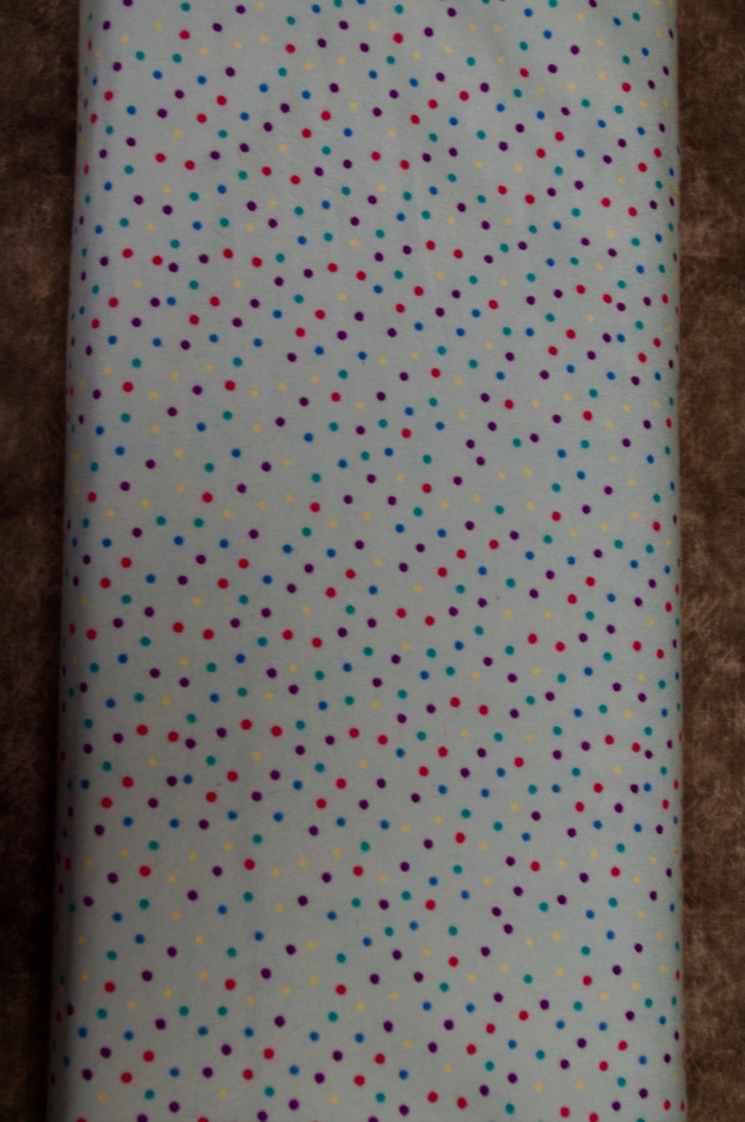 Flatfold Flannel - Multi-Coloured Polka Dots