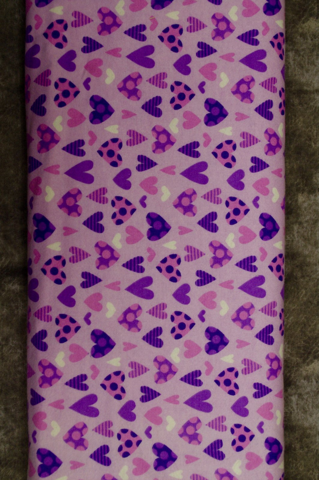 Flatfold Flannel - Purple Hearts