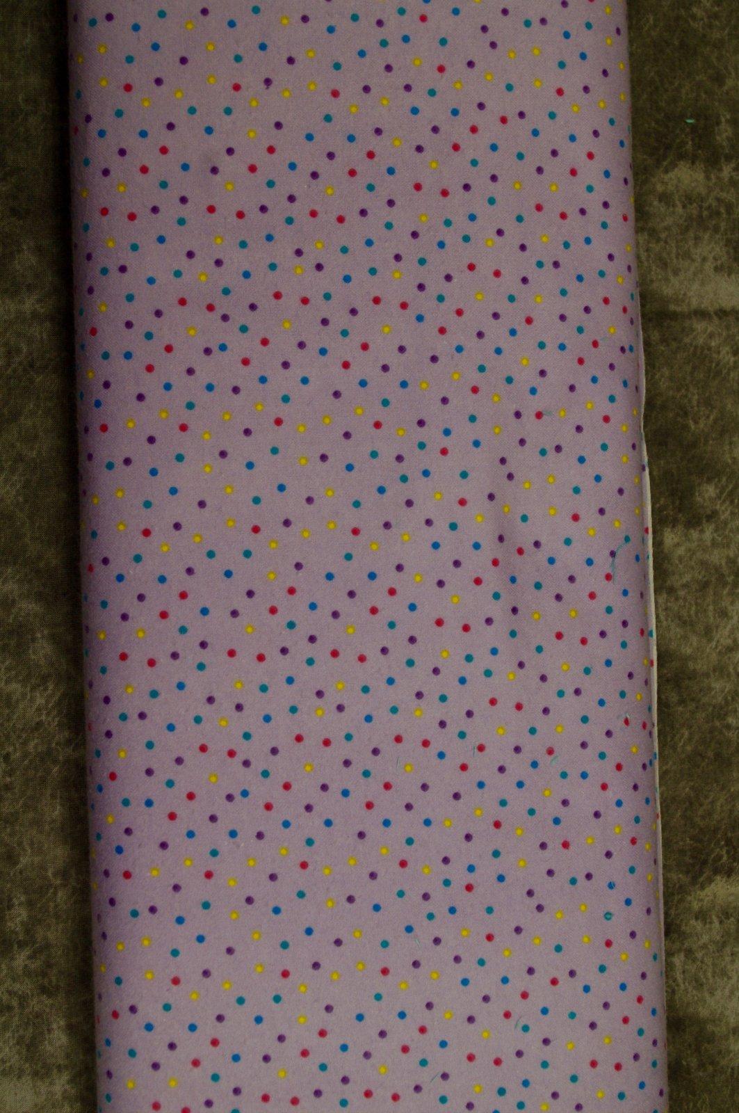Flatfold Flannel - Purple Polka Dots