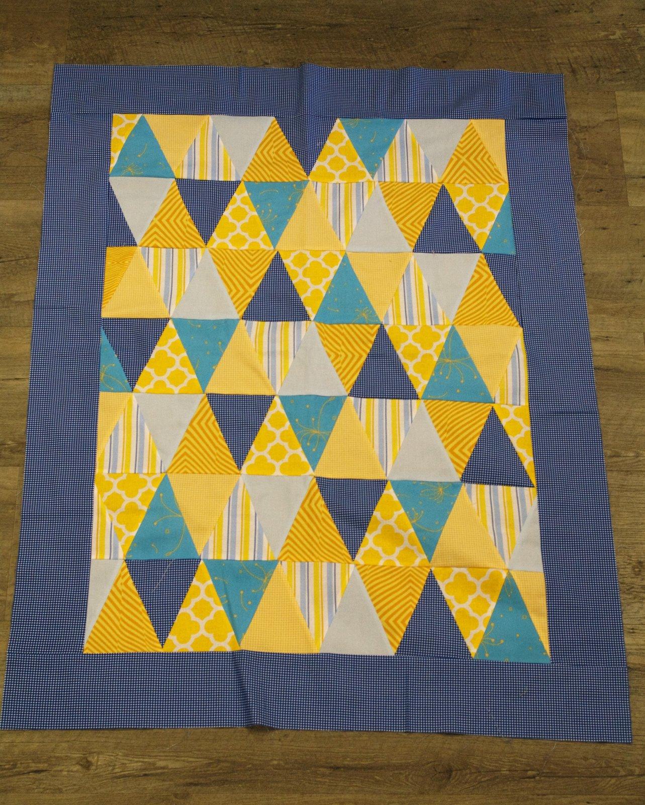 Isosceles Triangle Baby Quilt Kit