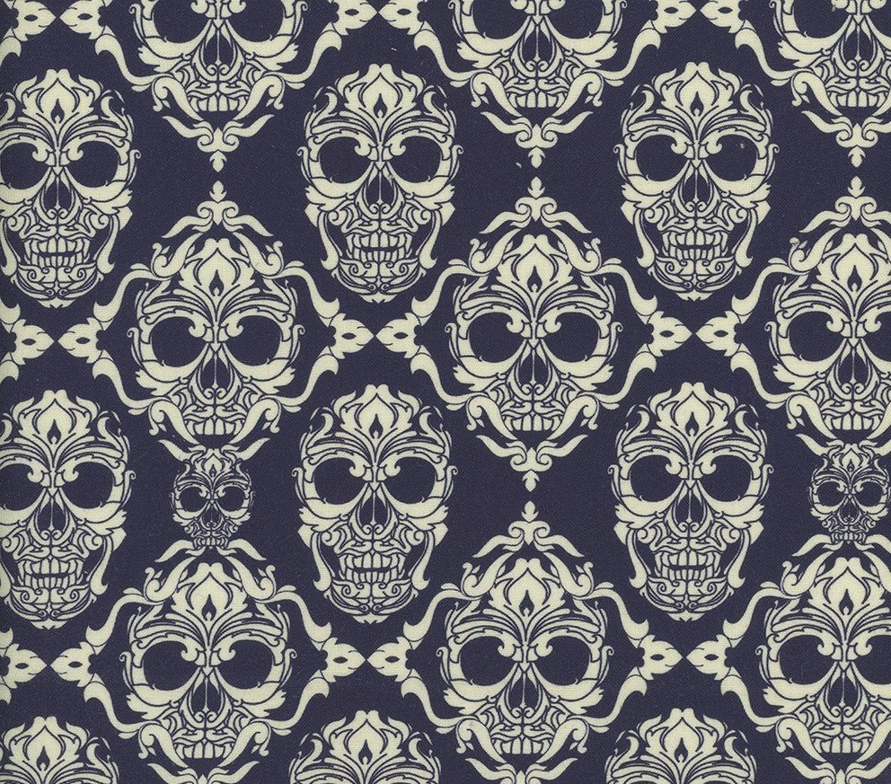Skull Ornamental - Navy