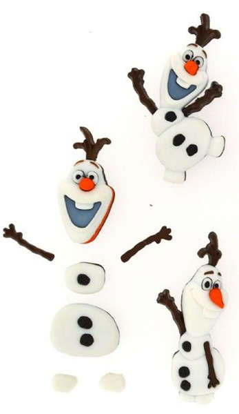 Dress It Up Buttons - Olaf