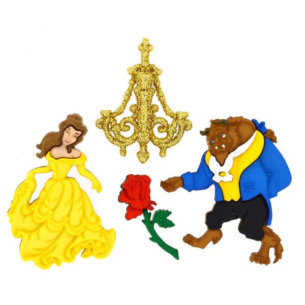 Dress It Up Buttons - Disney - Beauty and the Beast